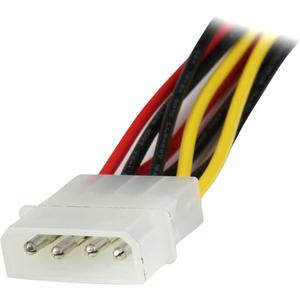 StarTech.com Adaptador Cable 30cm Divisor de 4 Pines LP4 a Doble SATA Cierre Seguridad Pestillo Latches - Para Disco SATA,
