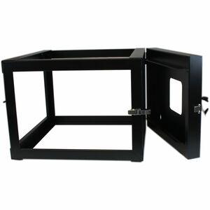 StarTech.com Rack de Acero de Marco Abierto de Pared 6U 22in Pulgadas de Profundidad con Bisagra - 49,90 kg Capacidad de p