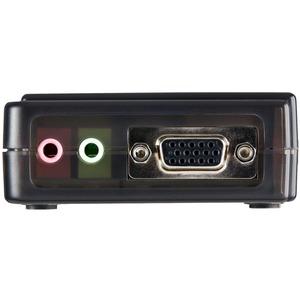 Juego de Conmutador Switch KVM 4 Puertos video VGA USB 2.0 con Cables y Audio StarTech.com SV411KUSB