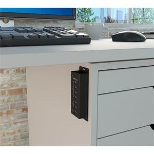 StarTech.com Hub Concentrador USB 3.0 de 4 Puertos y 3 Puertos de Carga USB ( 2x 1A y 1x 2A) - Ladrón con Carcasa de Metal