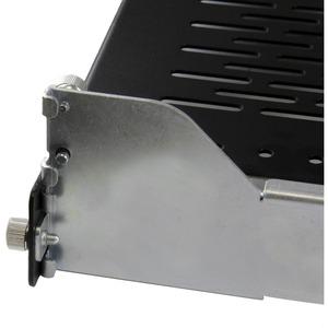 StarTech.com Ripiano Scorrevole Ventilato 2U con Sistema Gestione Cavi a Profondita Regolabile per Rack o Armadi -22.7 Kg