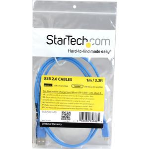 Cable Micro USB Azul de 1m StarTech.com USBAUB1MBL