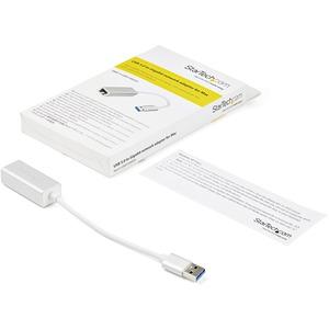 Adaptador de Red Ethernet Gigabit Externo USB 3.0 - Plateado StarTech.com USB31000SA