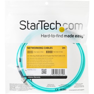 StarTech.com 2 m Fibre Optic Network Cable for Network Device, Switch, Hub, Router - First End: 2 x LC Male Network - Seco