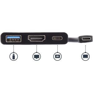 StarTech.com Adattatore Multifunzione USB-C a HDMI 4K con (PD) Power Delivery USB e porta USB-A - 1 x Tipo C Maschio USB -