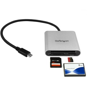 StarTech.com USB 3.0 Flash Memory Multi-Card Reader/Writer with USB-C - SD microSD and CompactFlash Card Reader w/ Integra