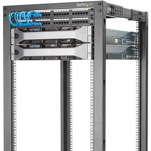 StarTech.com 25U Floor Standing Rack Cabinet for Server, LAN Switch, A/V Equipment, Patch Panel, KVM Switch - 464.82 mm Ra
