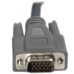 StarTech.com UltraThin 3.05 m Coaxial KVM Cable for Keyboard/Mouse, KVM Switch, Video Device, PC - First End: 1 x HD-15 Ma