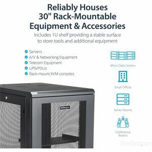 """StarTech.com Rack per Server - Armadio Server con profondità da 31"""" - 18U - 450 kg Capacità massima di peso"""