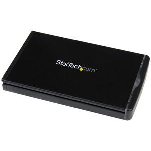 """StarTech.com Hot Swap Hard Drive Bay - Black Aluminum - 2.5"""" SSD HDD - for 5.25 / 3.5"""" Bay - SATA Backplane - Hard Drive R"""