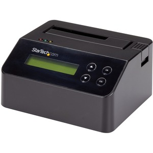 StarTech.com Hard Drive Eraser - for 2.5in / 3.5in SATA SSD/HDD - 4Kn Support - Standalone - Integrated LCD - Hard Drive D