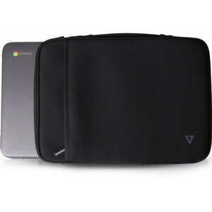 "V7 Elite CSE5H-BLK-9E Carrying Case (Sleeve) for 30.5 cm (12"") MacBook Air - Black - Neoprene - Handle - 222 mm Height x 3"