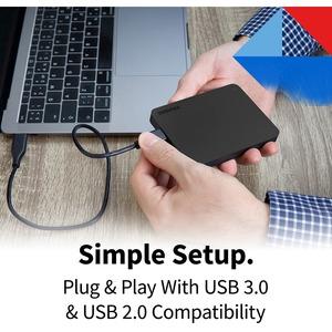 Disco Duro Pórtatil Toshiba Canvio Basics - Externo - 2TB - Negro - USB 3.0