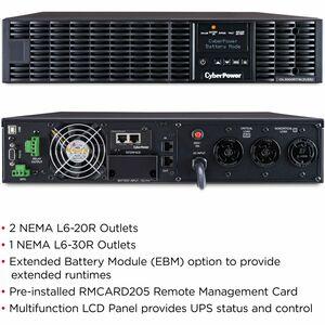CyberPower UPS Systems OL3000RTXL2UHVN Smart App Online -  Capacity: 3000 VA / 2700 W - CyberPower OL3000RTXL2UHVN 3KVA On
