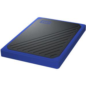 WD My Passport Go WDBMCG5000ABT-WESN 500 GB Portable Solid State Drive - External - Black, Cobalt - USB 3.0