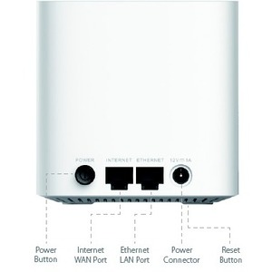 Router inalámbrico D-Link Covr Covr-1102 - IEEE 802.11ac - Ethernet - 2,40 GHz Banda ISM - 5 GHz Banda UNII - 150 MB/s Vel