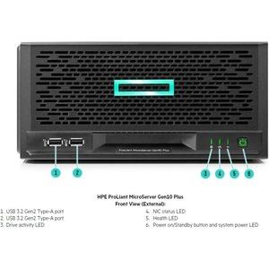HPE ProLiant MicroServer Gen10 Plus Ultra Micro Tower Server - 1 x Intel Xeon E-2224 3.40 GHz - 16 GB RAM - Serial ATA/600
