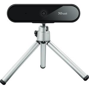 Webcam Trust Tyro - 30 fps - Nero, Argento - USB 2.0 - 1920 x 1080 Video - Auto focus - Microfono - Computer portatile, Co