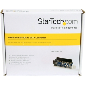 StarTech.com Conversor Adaptador IDE ATA a SATA de 2 - 1 x IDE Hembra, 1 x SP4 Macho - 1 x Macho SATA