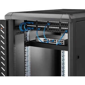 StarTech.com Ripiano per montaggio a rack regolabile 1U - Robusto ripiano per armadio server rack fisso - 80 kg - 79,83 kg