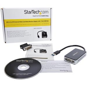 StarTech.com Adattatore scheda video esterna per più monitor USB 3.0 a DVI con hub USB a 1 porta - 1920x1200 - 1 x Tipo A
