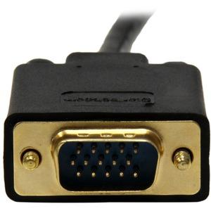 StarTech.com Cable 1,8m de Vídeo Adaptador Conversor DisplayPort DP a VGA - Convertidor Activo - 1080p - Negro - Extremo p