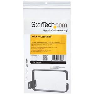 StarTech.com Anilla Pasacables en D Vertical 1U para Gestión de Cableado en Armarios Racks - Guiacables 5,7x10cm - 1U Altu