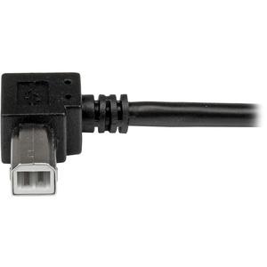 StarTech.com 3m USB 2.0 A to Right Angle B Cable Cord - 3 m USB Printer Cable - Right Angle USB B Cable - 1x USB A (M), 1x