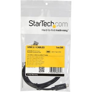 Cable USB Type-C de 1m - USB 3.1 Tipo A a USB-C StarTech.com USB31AC1M