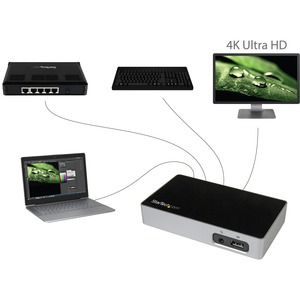 StarTech.com USB 3.0 Docking Station - Compatible with Windows / macOS - Supports a Single 4K Ultra HD DisplayPort Display