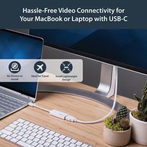 StarTech.com Adaptador USB-C a HDMI de 4K a 30Hz - Blanco - Extremo prinicpal: 1 x Tipo C Macho USB - Extremo Secundario: