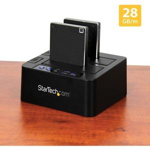 "StarTech.com USB 3.1 (10Gbps) Hard Drive Duplicator Dock for 2.5"" & 3.5"" SATA SSD HDD + 4Kn - USB/ USB-C [Thunderbolt 3 Co"
