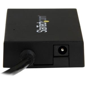 StarTech.com Concentrador USB 3.0 de 4 Puertos USB-C - Incluye Adaptador de Alimentación - Hub USB Type-C Gen 1 - USB C -