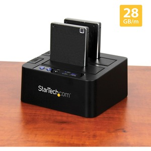 StarTech.com Drive Dock SATA/600 - USB 3.1 Type B Host Interface - UASP Support External - Black - Hot Swappable Bays - 2