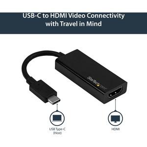 StarTech.com Adaptador USB-C a HDMI - 4K 60Hz - Extremo prinicpal: 1 x HDMI Hembra Audio/Vídeo digital - Extremo Secundari