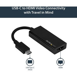 StarTech.com Adattatore USB-C a HDMI - 4k 60hz - Estremità 1: 1 x HDMI Femmina Audio/video digitale - Estremità 2: 1 x Tip