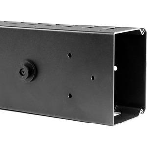 StarTech.com Gestor Organizador Vertical de Cableado con Lengüetas - 0U - 1,8m - Panel de Gestión de Cableado de Montaje e