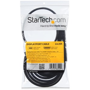 StarTech.com Cable Adaptador USB-C a HDMI - 1m - 4K a 30Hz - Extremo prinicpal: 1 x HDMI Macho Audio/Vídeo digital - Extre