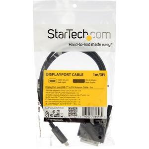 StarTech.com USB-C to DVI Cable - 1 m - 1080p - 1920x1200 - USB C DVI Monitor Cable - USB C Cable - Computer Monitor Cable