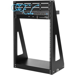 StarTech.com 16U Floor Standing, Tabletop Rack Frame for Server, Patch Panel, LAN Switch, A/V Equipment - 482.60 mm Rack W