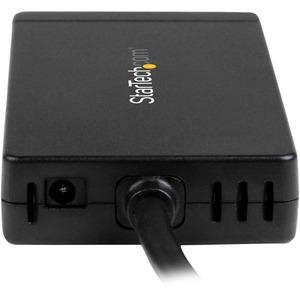 3 Port USB C Hub with Ethernet - USB-C to 3x USB-A w/ Power Adapter & Gigabit Ethernet - Thunderbolt 3 Compatible - USB C