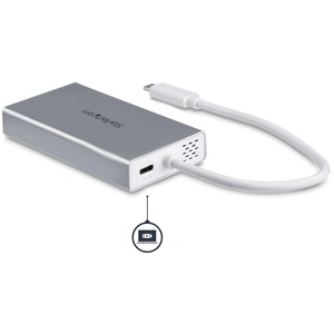 StarTech.com USB C Multiport Adapter - Aluminum - Power Delivery (USB PD) - USB C to Gigabit Ethernet / 4K HDMI / USB 3.0