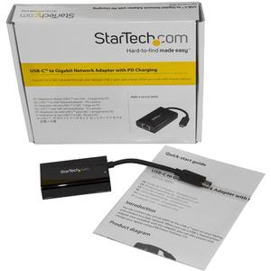 StarTech.com Adattatore USB-C da rete Gigabit Ethernet Gbe con ricarica Power Delivery 2.0 - Scheda di rete USB Tipo-C - U