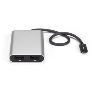 StarTech.com Thunderbolt 3 to Dual DisplayPort Adapter - 4K 60Hz - Mac and Windows Compatible - Thunderbolt 3 Adapter - US