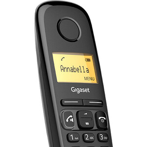 Gigaset A270A Duo DECT Cordless Phone - Black - Cordless - Corded - 1 x Phone Line - 2 x Handset - 1 Simultaneous Calls -