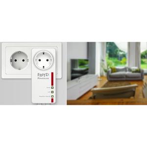 Adattatore Powerline Network - FRITZ! 1220E - 1 - 2 x Rete (RJ-45) - 1200 Mbit/s Powerline - HomePlug AV2 - Gigabit Ethernet