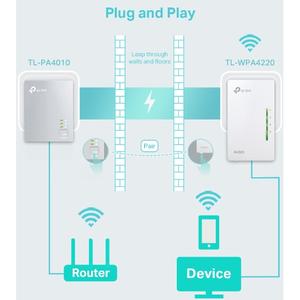 Adattatore Powerline Network - TP-Link TL-WPA4221 KIT - 2 x Rete (RJ-45) - 600 Mbit/s Powerline - 300 m Supporto a distanz