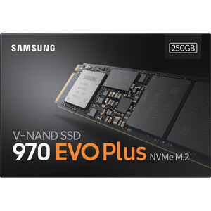 Samsung 970 EVO Plus 250 GB Solid State Drive - M.2 2280 Internal - PCI Express (PCI Express 3.0 x4) - 512 MB Buffer - 350