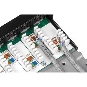 Quadro per prese di rete TRENDnet TC-P24C6AHS - 24 Port(s) - 24 x RJ-45 - 0.5U Alto - Rack-Montabile