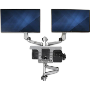 """StarTech.com Wall Mount for Monitor, Keyboard, Mouse - Silver - TAA Compliant - 2 Display(s) Supported76.2 cm (30"""") Screen"""